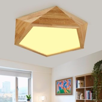 Harga LED Ceiling Light 62CM 32W (White Light / Warm Light) Wooden Led Lamps DGY7101 Simple Creative Fixture Geometry Living Room Bedroom lighting - intl