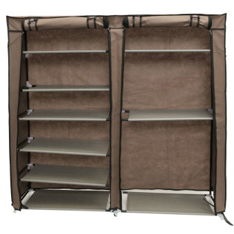 6 Tier Covered Shoes Rack Storage Shelf Organizer Cabinet Closet Stand Cupboard