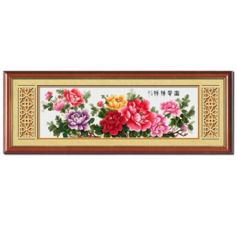Harga Blooming Peonies Stamped Cross Stitch Kit (Multicolor)