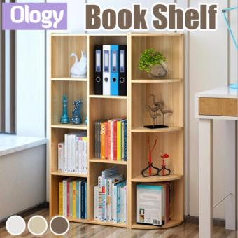 24*24cm Book Shelf Storage Cabinet Rack File Organizer Closet Corner Bookshelf Wooden Box