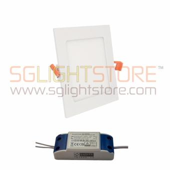 Harga LED Flat Panel Downlight - Square 9W Warm Colour (Safety Mark)