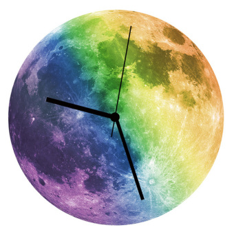 Harga Night Glowing Moon Wall Clock