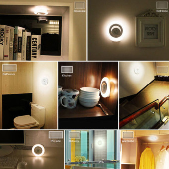 Harga Auto Body Sensors Light Motion Detector Warm White Night Lamp