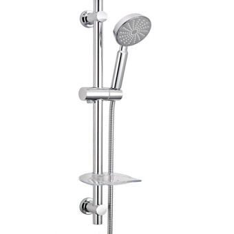 Harga XIYOYO Kbi Shower Set With Shower Head Hose And Soap Dish & Anti Rus Tshower Riser Bar - intl