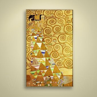 Look forward to gold painter gustav klimt oil paintings entrance hallway hallway wall painting decorative painting abstract painting wall painting paintings gold