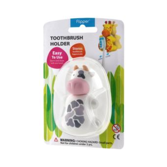 Harga Flipper Toothbrush Holder (Fun Animal - Cow)