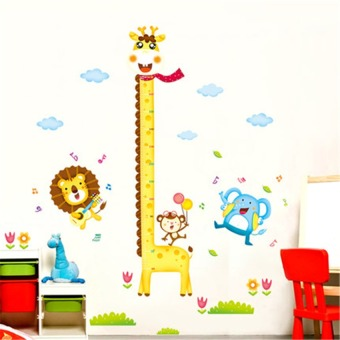 Harga Removable Height Chart Measure Wall Sticker Decal for Kids BabyRoom Giraffe(Export)(Intl)