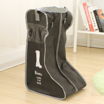 Harga Shoe covers shoe covers dust barreled boots cover transparent visual non-woven cloth storage shoe boots pouch