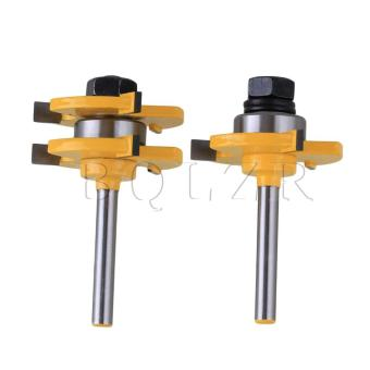Harga 1/4Inch Shank 3 Wing Tongue and Groove Router Bit Set of 2 (EXPORT)