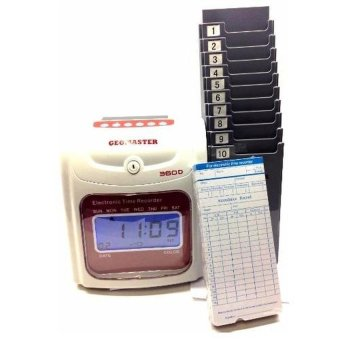 Harga 360 TIME RECORDER PUNCH CARD MACHINE -FULL SET - intl