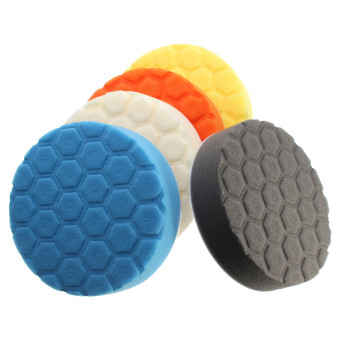 Harga 5pc New 5 inch Hex-Logic Polishing Pad kit For Car Polisher --select set