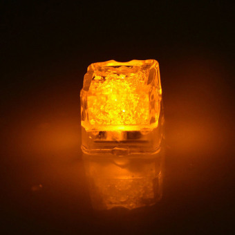 Harga 1pc LED Glowing Ice Cube LED Liquid Sensor Cubes Shape Light For Bars KTV Yellow