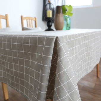 Scandinavian minimalist pastoral lattice tablecloth coffee table desk table cloth linen table cloth tablecloth rectangle table cloth
