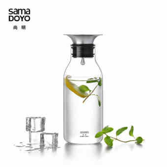 Summer cold water heat-resistant glass bottle cold water pot SHANG Ming cool water bottle lemon cup Glass ice drink pot juice pot