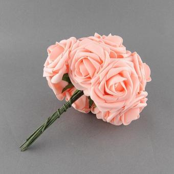 Harga 10pcs Quality Artificial Rose Flower Wedding Bridal Bouquet Prom Rome Home Decor - intl