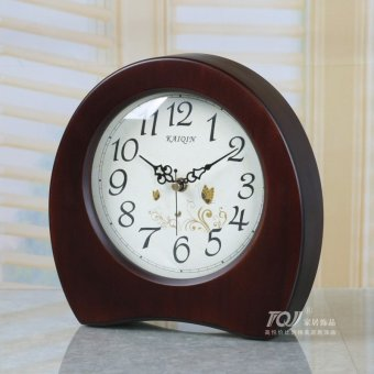 Harga Ketchen living room bedside clock clock creative fashion personality table clock sit mute vintage european wooden clocks
