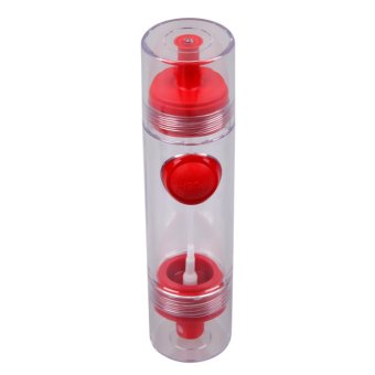 2 in 1 Cooking Olive Oil Sprayer Dispenser Cruet Kitchen Pastry Tools(Red) - intl