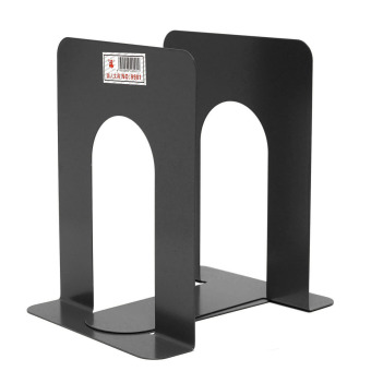 Harga 1 Pair Heavy Duty Metal Book Ends Shelf Bookends Holder Office School Stationery - Intl