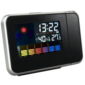 Harga Digital LCD LED Projector Alarm Clock Projecting Weather Station Thermometer