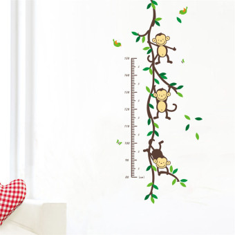 Harga Monkey Forest Home Vinyl Wall Decal Removable Stickers Kids Height Chart Measure