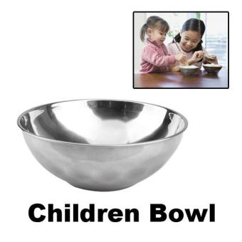 Anti-Rust Stainless Steel Smooth Rolled Edge Bowl - intl