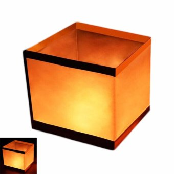 Harga Fancyqube River square lanterns paper wishing floating water lamp candle [H01] - intl