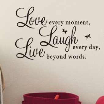 Harga Live Laugh Love Quote Removable Vinyl Decal Wall Sticker Home Decor Art Hot
