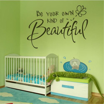 Waterproof wall stickers can be in addition to children room 8087 56 38cm Be your Own kind