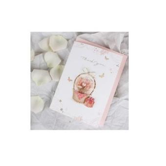 Harga Flower Basket Thank You Card