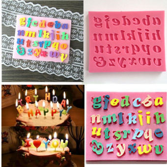 Silicone Letter Cake Mould Mat Fondant Sugar Craft Mold Decorating - intl