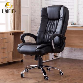 Harga UMD PU Leather Boss Chair Type A 338 (Black)