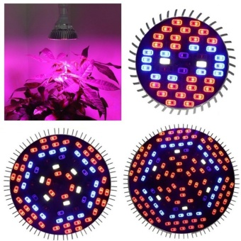 Harga Ajusen E27 50W Full Spectrum LED Grow Lights LED Horticulture Grow Light for Garden Flowering Plant and Hydroponics System - intl