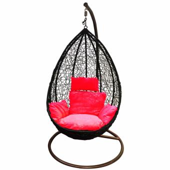 Harga Winning Deluxe Cocoon Tear-Drop Swing Chair (Red Cushion)