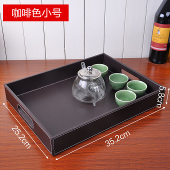 Harga Ya Chen leather wooden Plus-sized cups European Tray