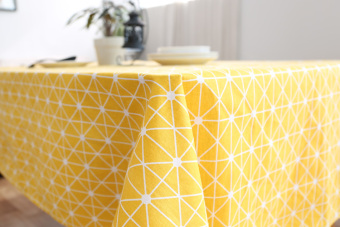 Nordic yellow geometric pattern tablecloth rectangular coffee table modern minimalist home cotton fabric table cloth cover cloth