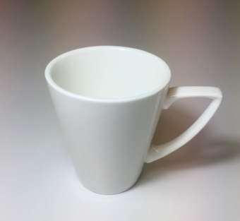 Moderne 220ml Fantastic Coffee Cup, 6pcs (White)