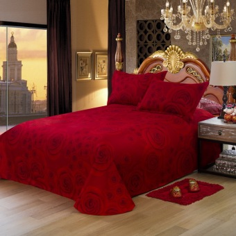 Harga Fashion bedding sets Cotton With Velvet Bedspread 4pcs Bed Linen Bed Sheets Duvet Cover Set