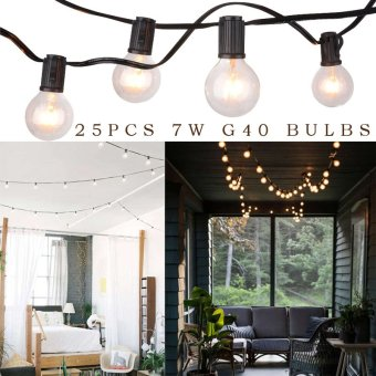 Harga Sunix 25ft Weatherproof Commercial String Light w/ 25 E12 Hanging Sockets SU206