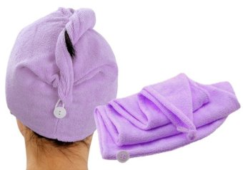 Harga Microfiber Hair Wrap Towel (Purple)
