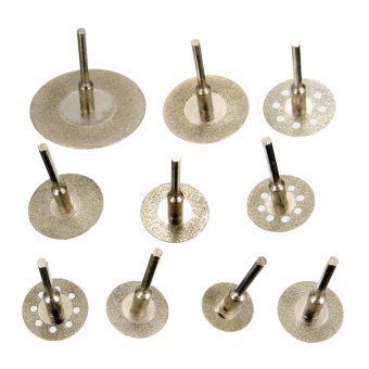 Harga 10Pcs Diamond Cutting Wheel Discs Saw Cut Off Blades Rotary Tool Set For Dremel(Export)(INTL)