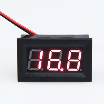 Harga 0.56inch LCD DC 3.2-30V Red Panel Meter Digital Voltmeter with Two-wire - Intl - Intl