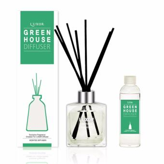 Luxor Aroma Reed Diffuser Green House 200ml Bottle + 200ml Refill + 5 Reed Sticks