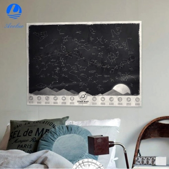 Harga Aooluo Beautiful Star Map Glow in the Darkness Night Sky Constellations Zodiac Chart Poster Gift - intl