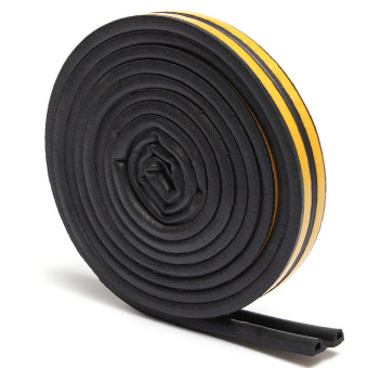 Harga 4pcs 5M P Type Draught Self Adhesive Window Door Excluder Foam Seal Strip Tape Rubber Black - intl