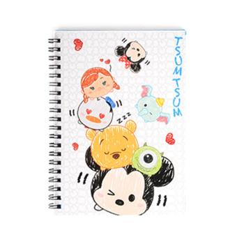 Harga Disney Tsum Tsum Wire-O Notebook Pile up(Multicolor)