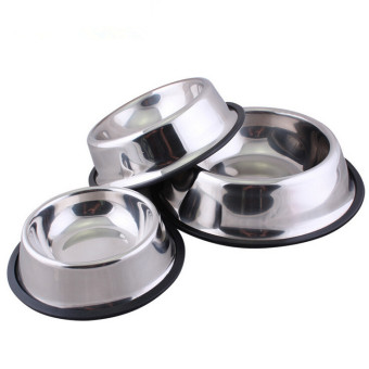 Harga Jetting Buy Pet Food or Water Bowl Stainless Steel No Tip No Slip 18CM - intl