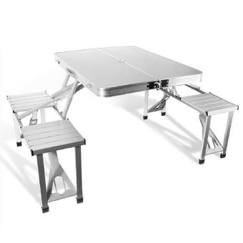 Harga Shoppy Foldable Picnic Table with 4 Seat (Chrome)