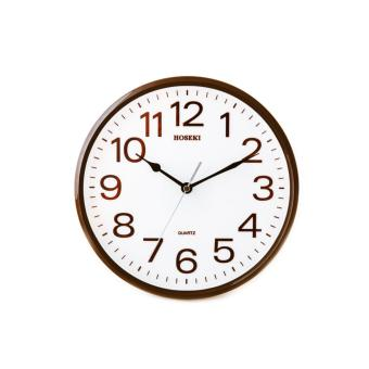 Harga Hoseki H-9141 Wall Clock (Brown White)