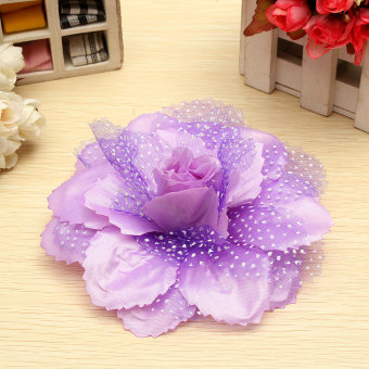 Harga Rose Flower Curtain Clips Tie Backs Holdbacks Decorarion For Home Hotel Purple