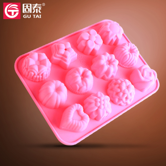 Harga 12 even the various flower glue mould chocolate mould jelly pudding cake mold ice mold temperature